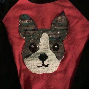 Puppy sweater girls med 10-12